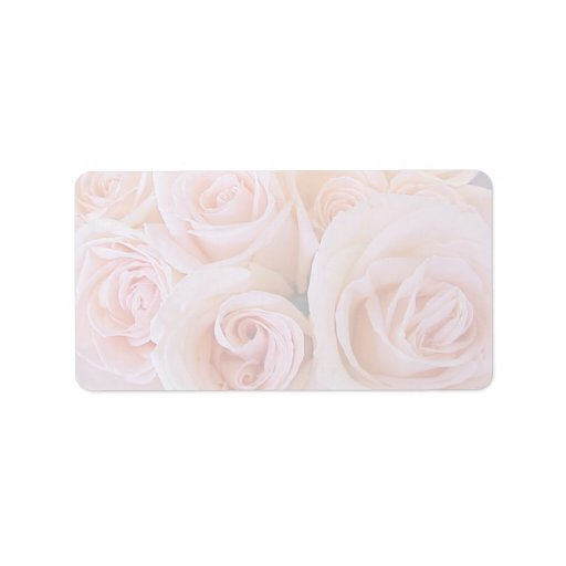 Roses pink personalized address labels