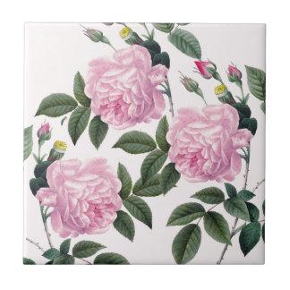 Roses Pink Vintage Dream Ceramic Tile