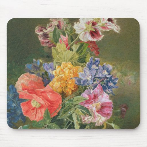 Roses, Poppy and Pelargonia Mouse Pad