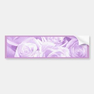 Roses_ púrpura pegatina para auto