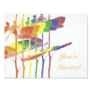 Roses Rainbow Personalized Invite