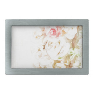 Roses Ribbons and Lace Rectangular Belt Buckles