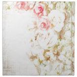 Roses Ribbons and Lace Cloth Napkin