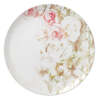 Roses Ribbons and Lace Party Plate