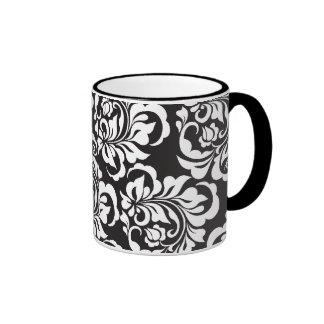 roses ringer coffee mug