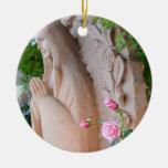 Roses Serenity Prayer Christmas Ornament