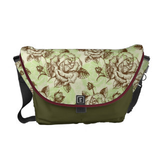 Roses Sketch Messenger Bag
