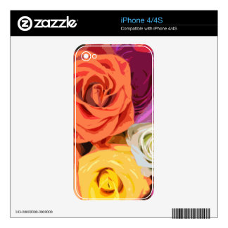 Roses Skin For The iPhone 4