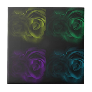 Roses Small Square Tile