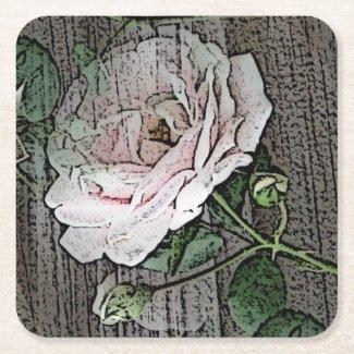 Roses Square Paper Coaster