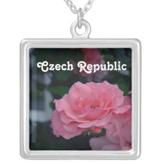 Roses Square Pendant Necklace
