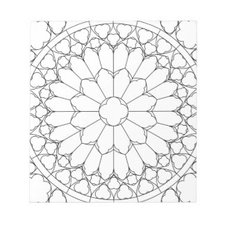 Roses Stained Glass Notepad