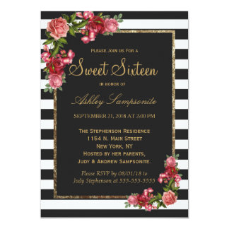 Sweet 16 Invitations Templates diabetesmanginfo
