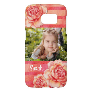 Roses & Stripes Samsung Galaxy S7 Case