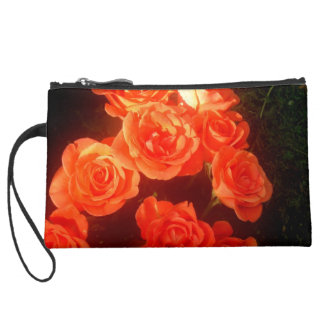 Roses Sueded Mini Clutch