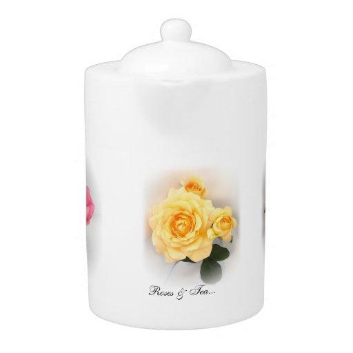 Roses & Tea Tea Pot by Stan The Roseman