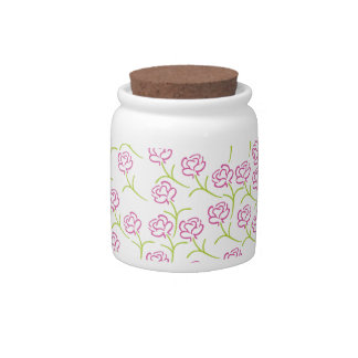 Roses Template Candy Jar