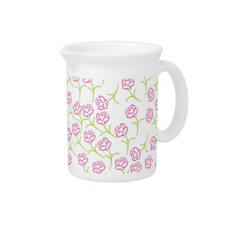 Roses Template Drink Pitcher