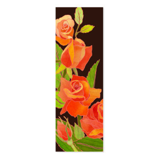 Roses:Thank You Gift Tag/Bookmark Double-Sided Mini Business Cards (Pack Of 20)