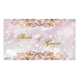 Roses Thank You Wedding Favor Tag - Double-Sided Standard Business Cards (Pack Of 100)