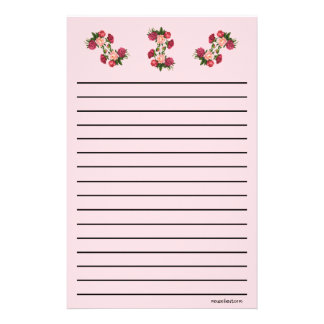 Roses Thick Line Stationery