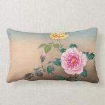 Roses Tsuchiya Koitsu japanese flowers painting Pillow