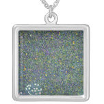 Roses under the Trees, c.1905 Square Pendant Necklace