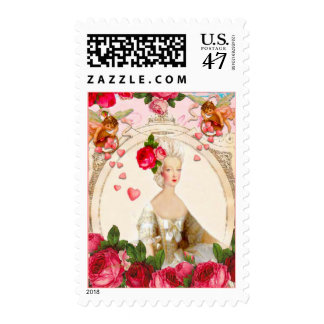 ROSES VALENTINE TEA PARTY POSTAGE STAMPS