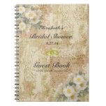Roses-Vintage Bridal Shower Guest Book- Note Book