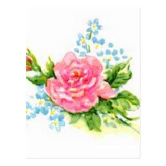 Roses, Vintage garden Postcard