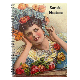 Roses Vintage Victorian DayDream Secret Diary Gift Spiral Notebook