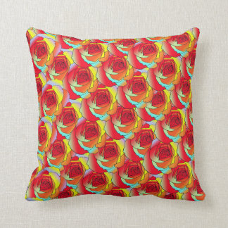 Roses w/ Meaning Throw Pillow
