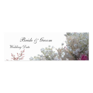Roses Wedding Favor Tag Mini Business Card