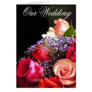Roses Wedding Invitation Greeting Card