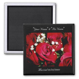 Roses Wedding Rememberance Magnet