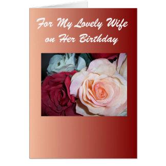 Roses Wife Birthday Card