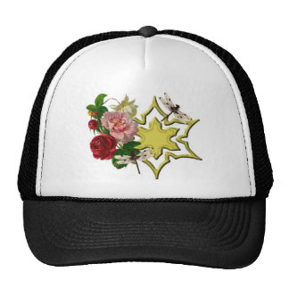 Roses with Dragonfly Trucker Hat
