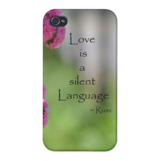 Roses with Love Quote iPhone 4/4S Cases