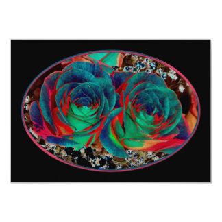 Roses with Solarized Special Effect Card
