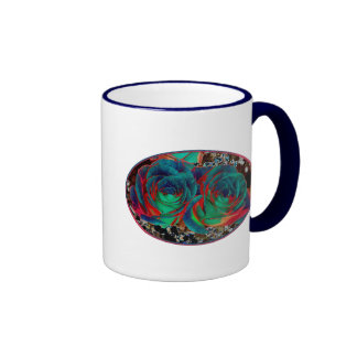 Roses with Solarized Special Effect Coffee Mugs