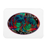 Roses with Solarized Special Effect Rectangular Magnets