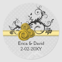 roses yellow  envelope seals