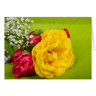 Roses yellow red flowers beautiful photo note card