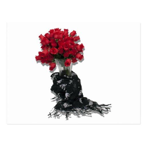 RosesBlackShawl072310 Tarjetas Postales