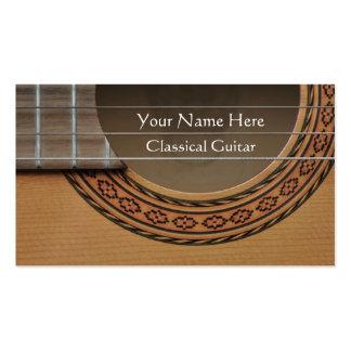 Rosetón adornado de una guitarra clásica tarjetas de visita