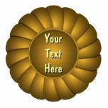 Rosetón amarillo de la cinta a personalizar escultura fotográfica