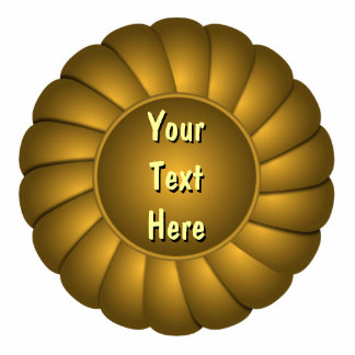 Rosetón amarillo de la cinta a personalizar imán fotoescultura