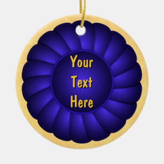 Rosetón de Blue Ribbon a personalizar Ornamento Para Reyes Magos