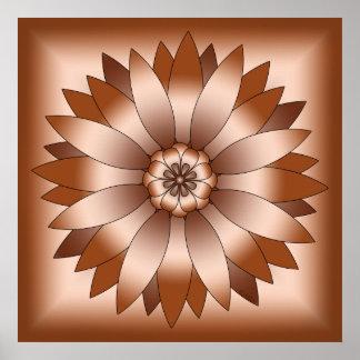 Rosetón de cobre impresiones