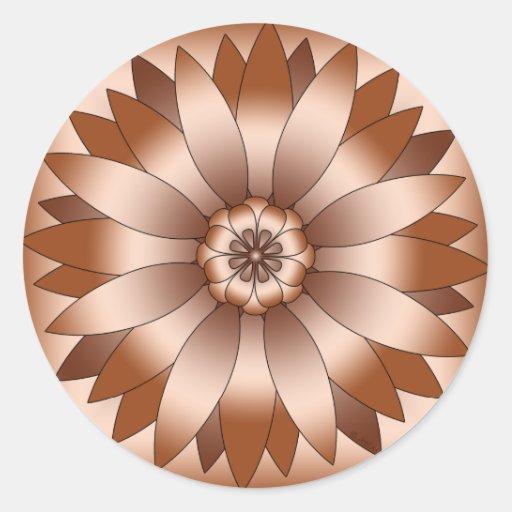 Rosetón de cobre pegatina redonda